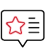 Star speech bubble icon